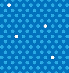 Seamless blue and white polka dots pattern vector image vector image