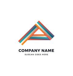 Alpha color a letter logo design template vector