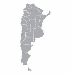 argentina provinces map vector image