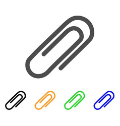 Attach paperclip flat icon vector