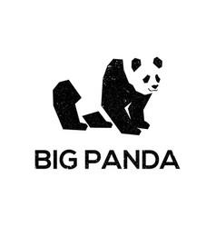 big panda logo designs template best for logo vector image