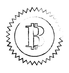 bitcoin currency digital symbol logotype of cash vector image