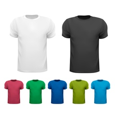Black and white and color men polo shirts Design vector image