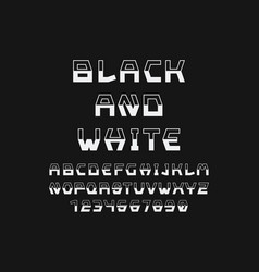 black and white font alphabet vector image