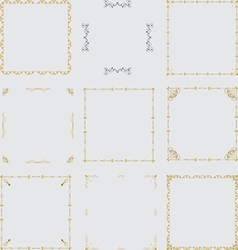border set 1 vector image