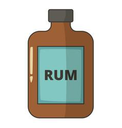 Bottle of rum icon cartoon style vector