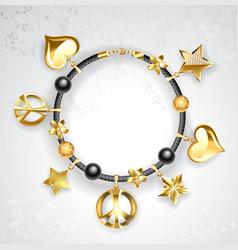 Bracelet with Symbols vector