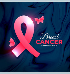 Breast cancer awareness month concept design with vector