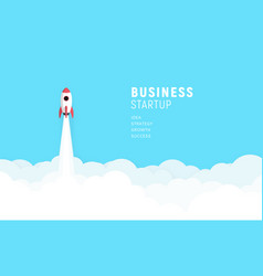 business startup launch concept flat design vector image