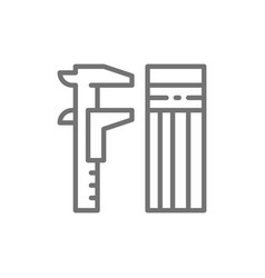 caliper measuring tool for building line icon vector image