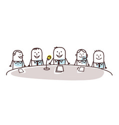 Cartoon business people and conference vector