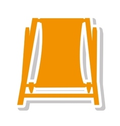 chair beach summer isolated icon vector image