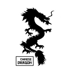 chinese red dragon vector image
