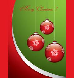 christmas balls - cut paper vector image