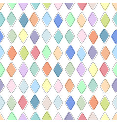 color seamless geometric pattern - tile mosaic vector image