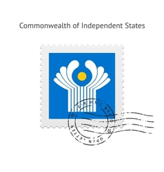 Commonwealth of Independent States Flag Postage vector image