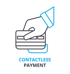 contactless payment concept outline icon linear vector image