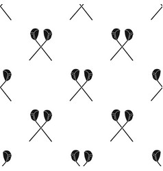 Crossed golf clubs icon in black style isolated on vector