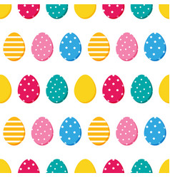 Decorated easter eggs seamless pattern vector
