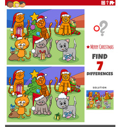 differences educational task for kids with cats vector image