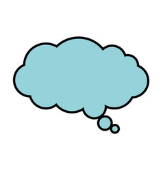 dream cloud isolated icon vector image