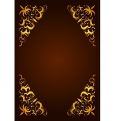 Elegant decorative hand drawn template frame vector