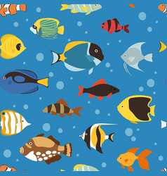 Exotic tropical fish underwater ocean or aquarium vector