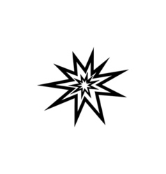 Explosion Icon Flat vector
