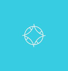 fish line logo marine round logotype vector image