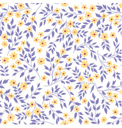 floral seamless pattern flourish garden vector image