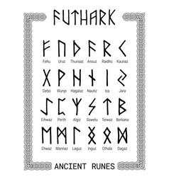 futhark - runic alphabet vector image