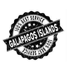 Galapagos islands best service stamp with dust vector