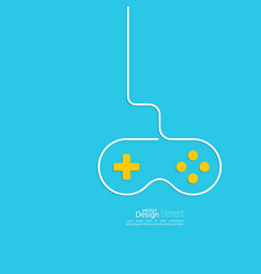 Game background wire and joystick vector image