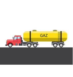 gas truck picture vector image