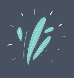 hand drawn twig on background vector image
