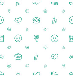 happy icons pattern seamless white background vector image