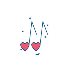 heart love music icon design vector image