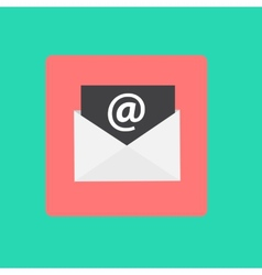 Inbox Mail Flat Concept vector image