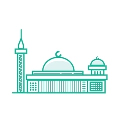 istiqlal mosque Islam prayer building in Jakarta vector image