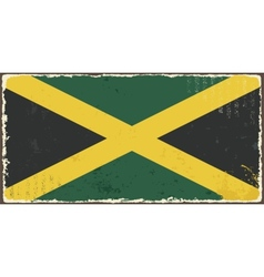 Jamaican grunge flag vector image