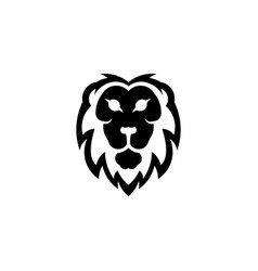 lion head logo template vector image