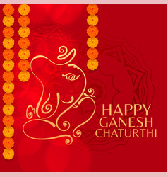 Lord ganesha festival ganesh chaturthi vector
