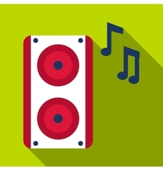 Loudspeaker icon flat style vector