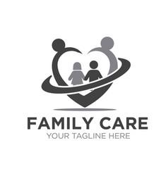 love family care logo designs simple modern vector image