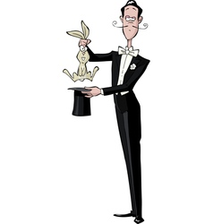 Magician and the rabbit vector