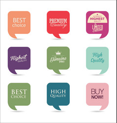 modern labels collection 2 vector image