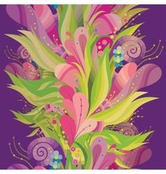 nature ornamental vertical seamless pattern vector image