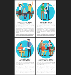 Office work successful team vector