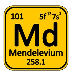 Periodic table element mendelevium icon vector image