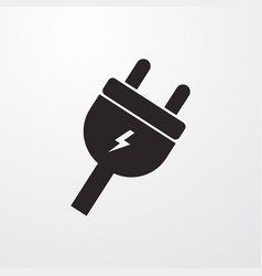 Power cable sign icon cable symbol flat vector